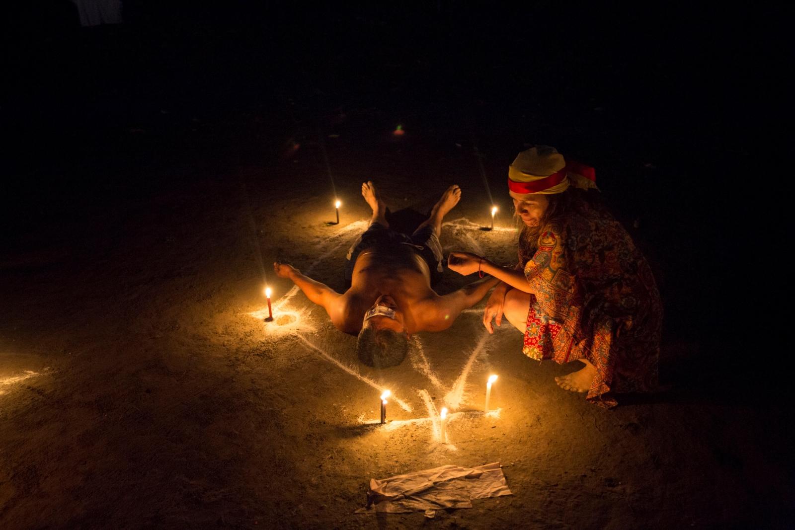 A Santeria ritual performed in Venenzuala