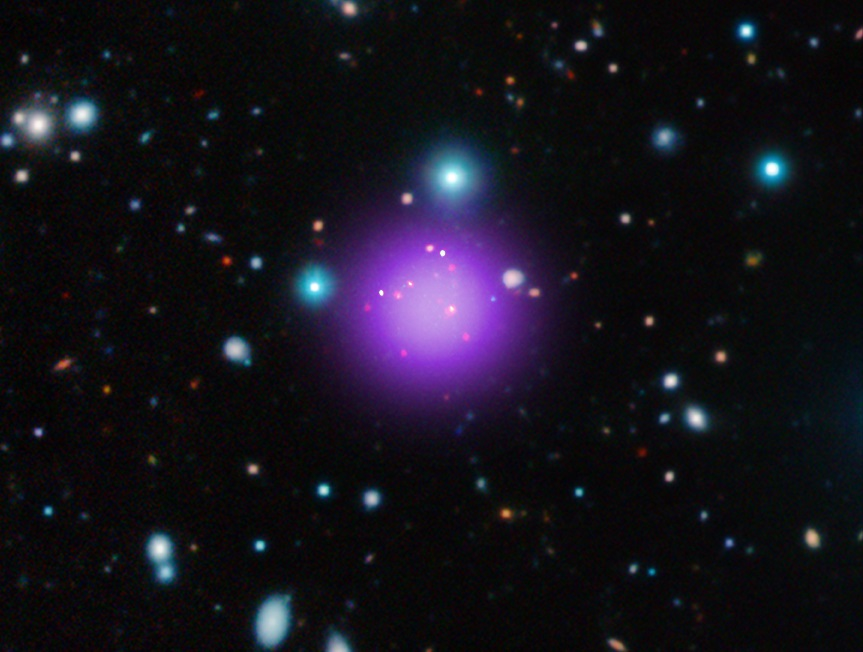Most distant galaxy cluster