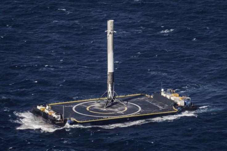 Space X Falcon 9 orbital rocket launch booster