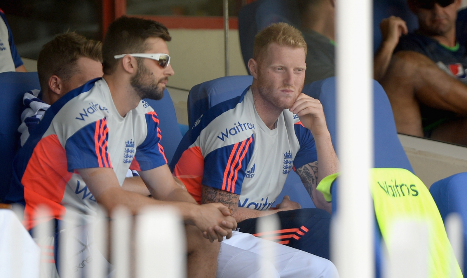 Mark Wood and Ben Stokes