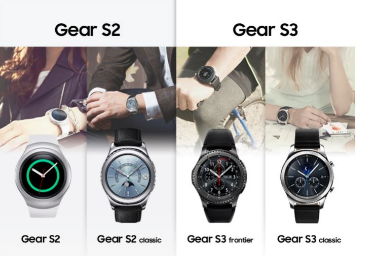 Samsung Gear S2 and Gear S3