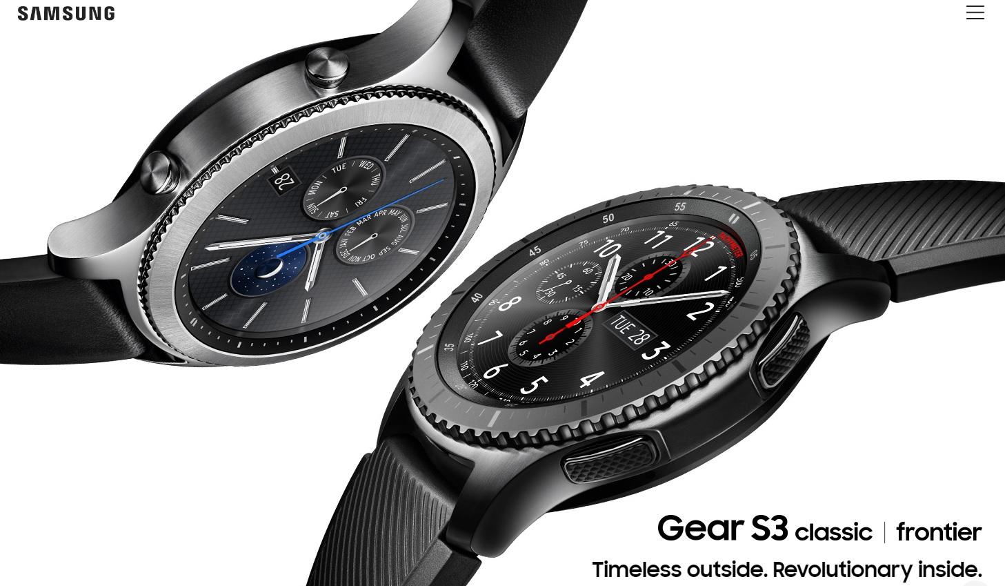 Samsung Gear S3 range