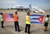 Cuba USA flight August 2016