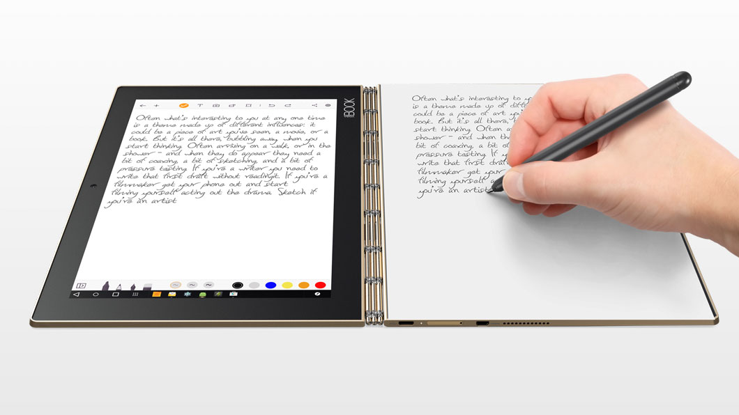 The Lenovo Yoga Book Android