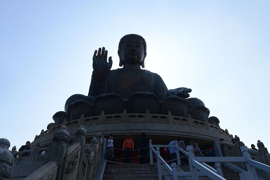 A Buddha statue in Hong Kong