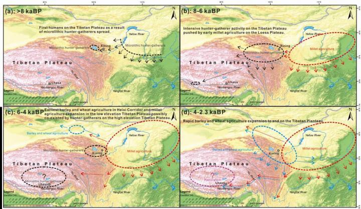 Tibetan Plateau human migration