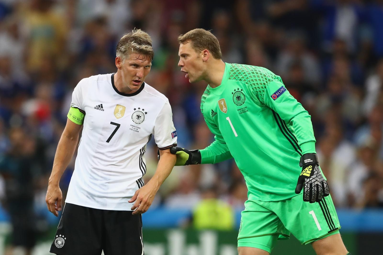 Bastian Schweinsteiger and Manuel Neuer