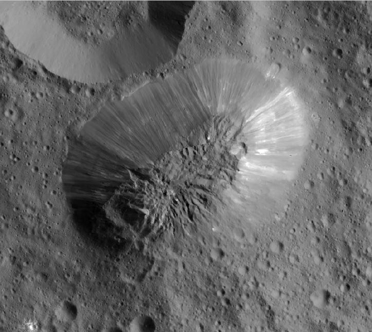 Ahuna Mons ice volcano ceres