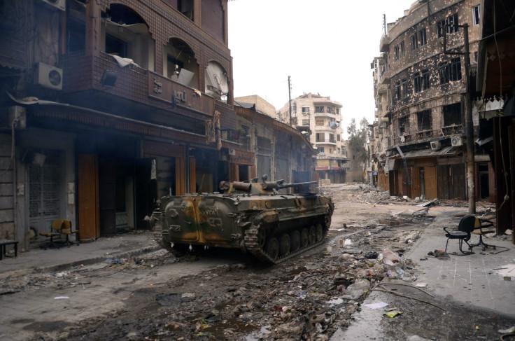 Assad tank Aleppo