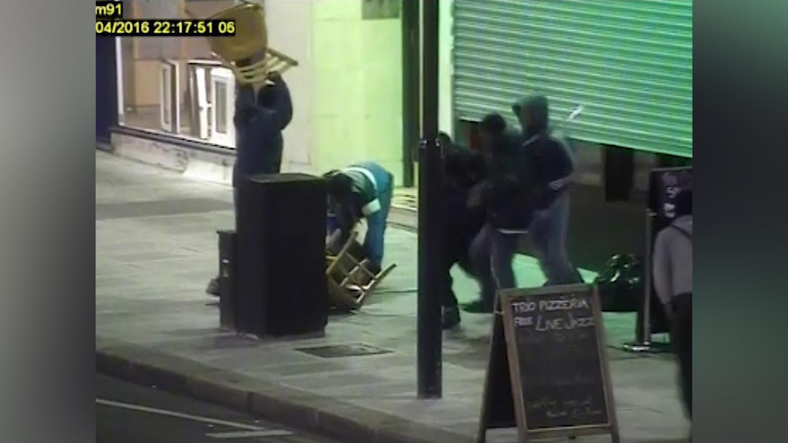 CCTV shows teenager beaten unconscious