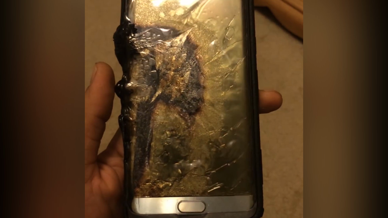 Video supposedly shows samsung galaxy note 7 after explosion