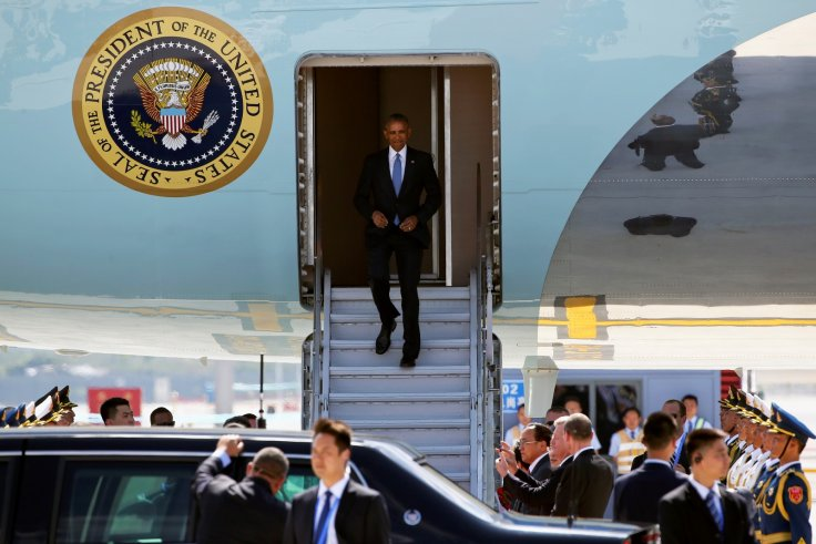 Barack Obama Air Force One China