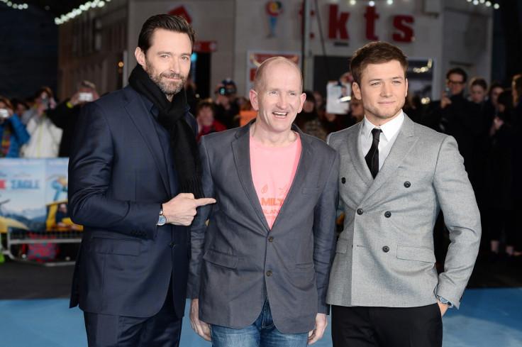 Hugh Jackman, Eddie Edwards and Taron Egerton