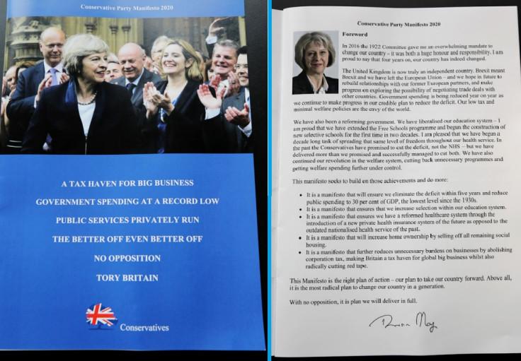 Fake Conservative manifesto