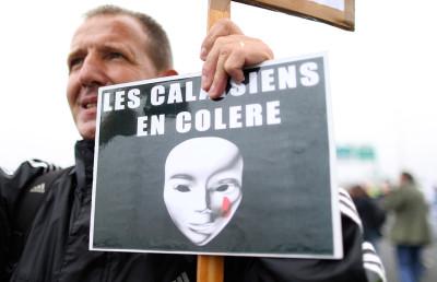 Calais protest