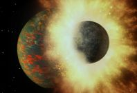 Early Earth planet collision