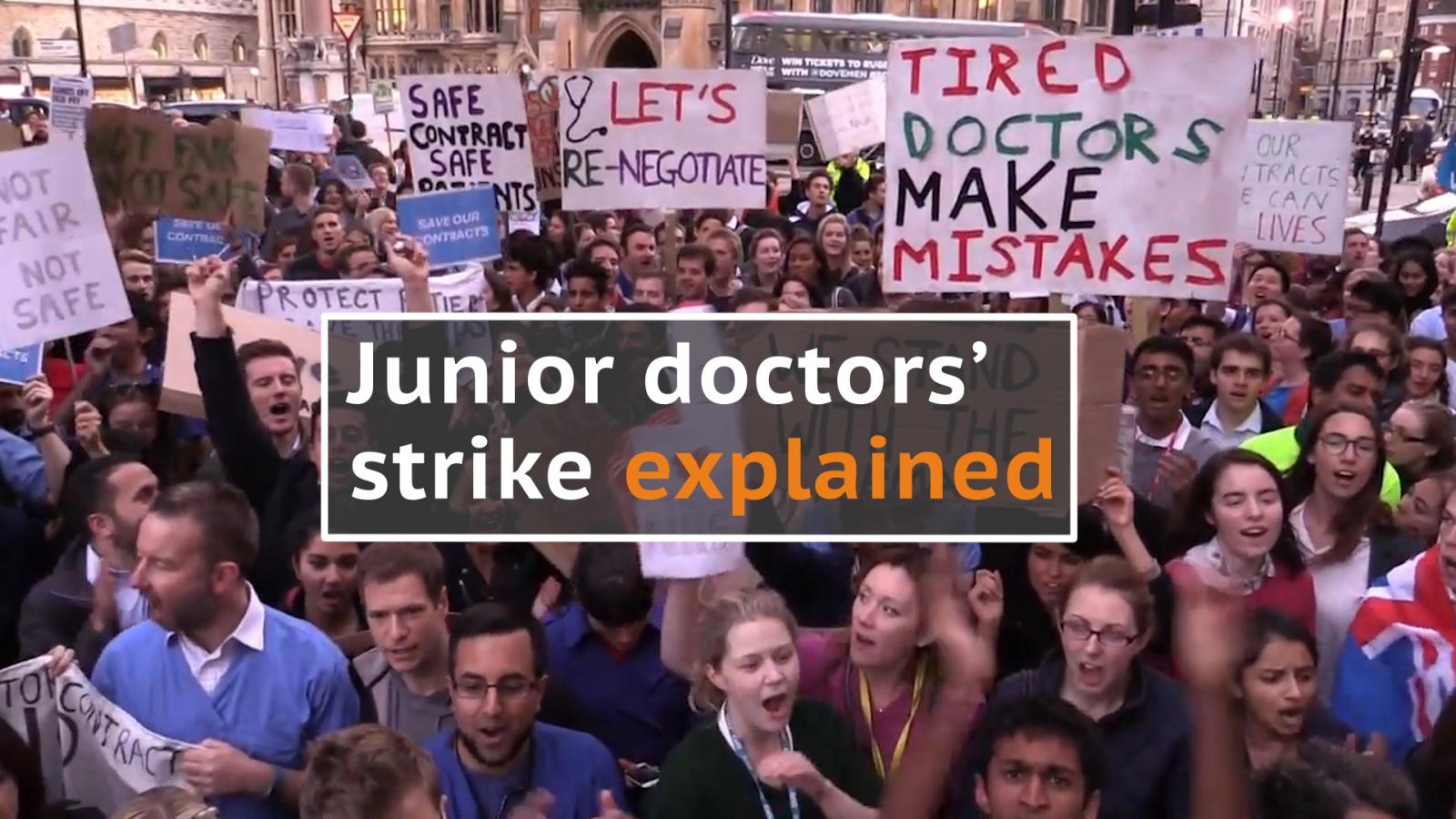 Junior doctors' strike explained