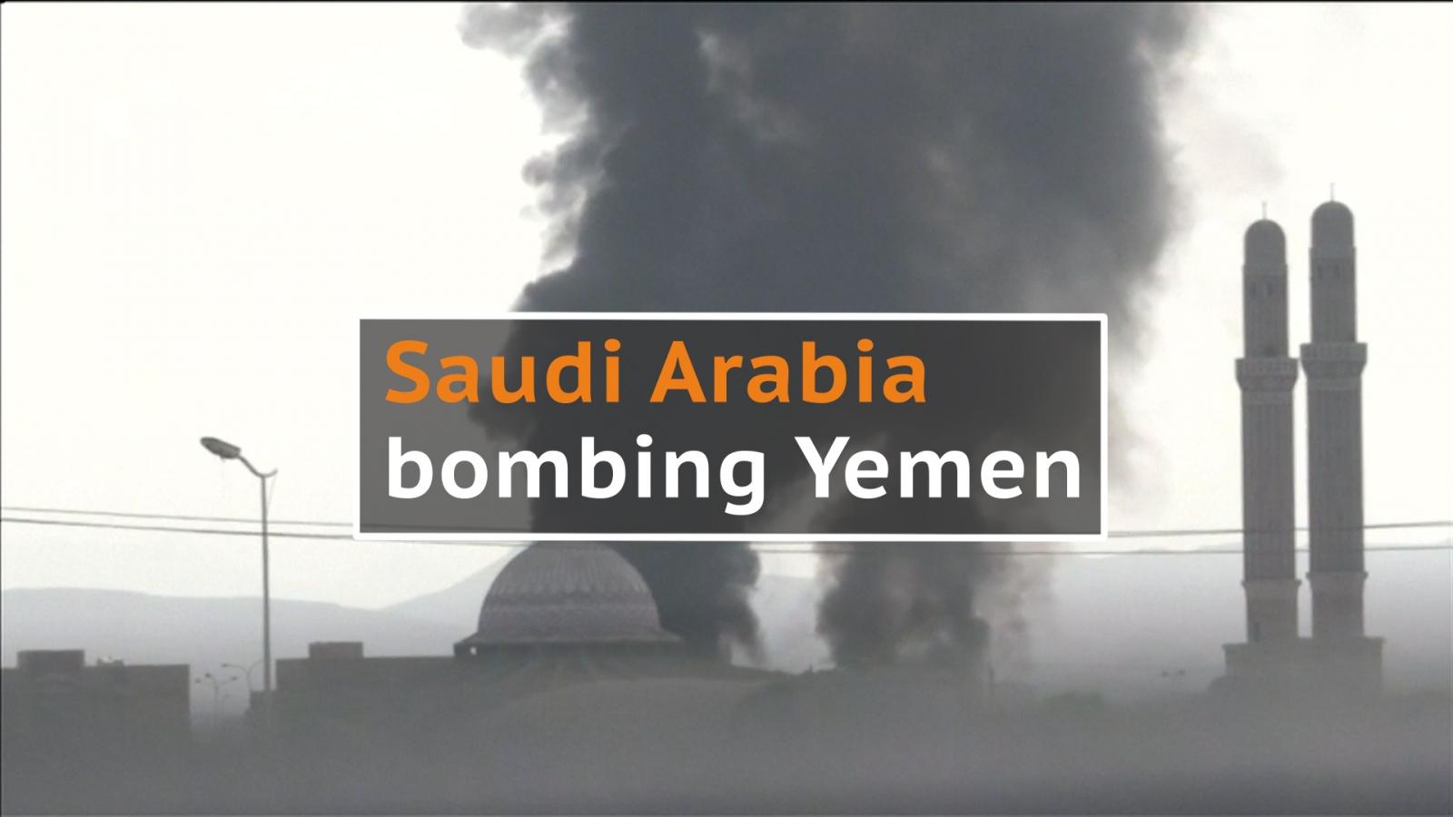 Saudi Arabia bombing Yemen