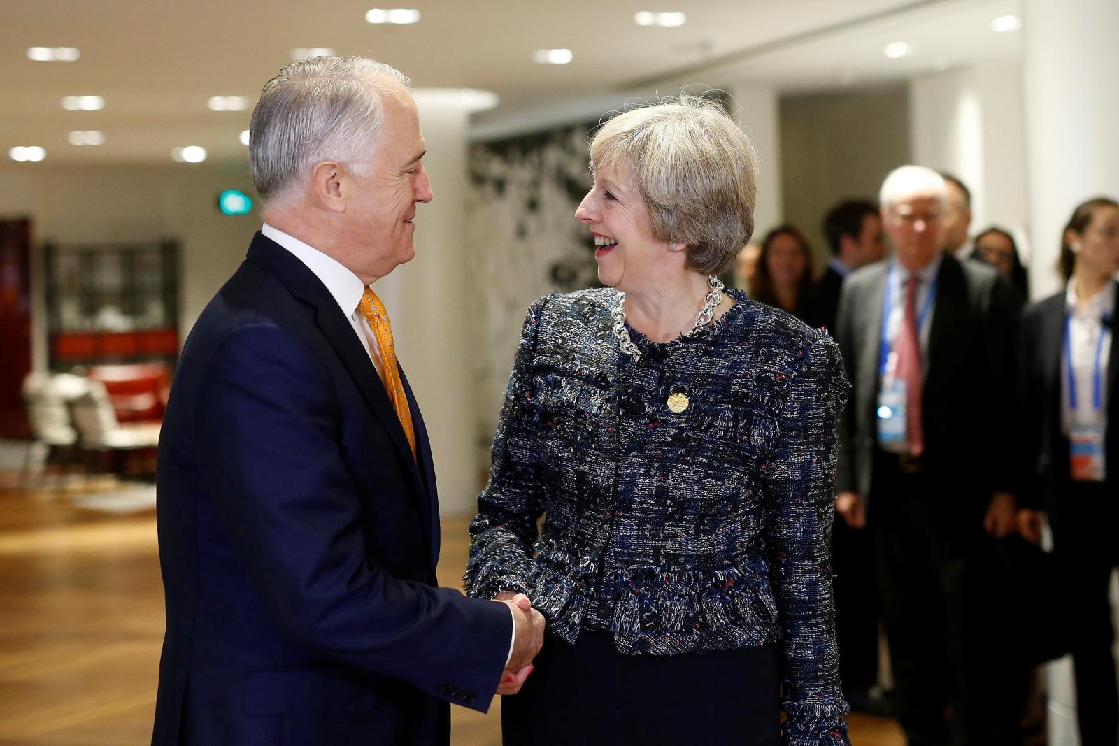 Malcolm Turnbull & Theresa May