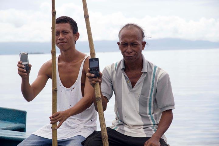 Pole and line fishermen in Ambon, Maluku