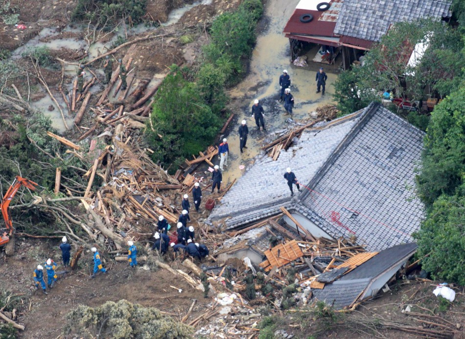 Typhoon Talas Pounds Japan with Rain, Flood, Landslide and Damages