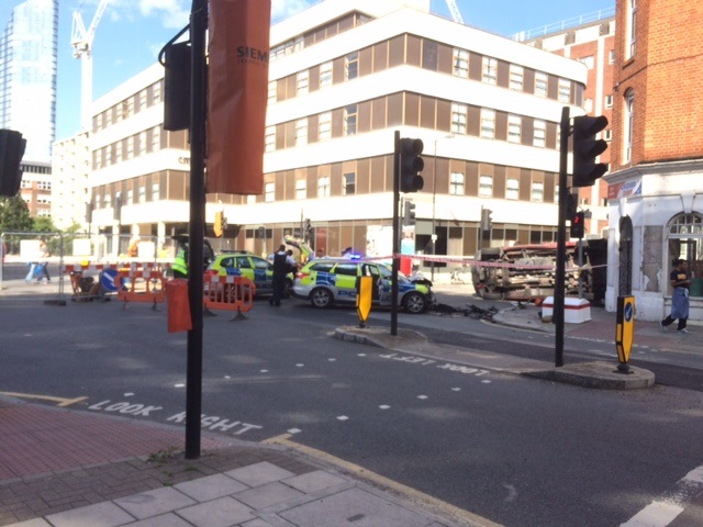 Old Street police crash