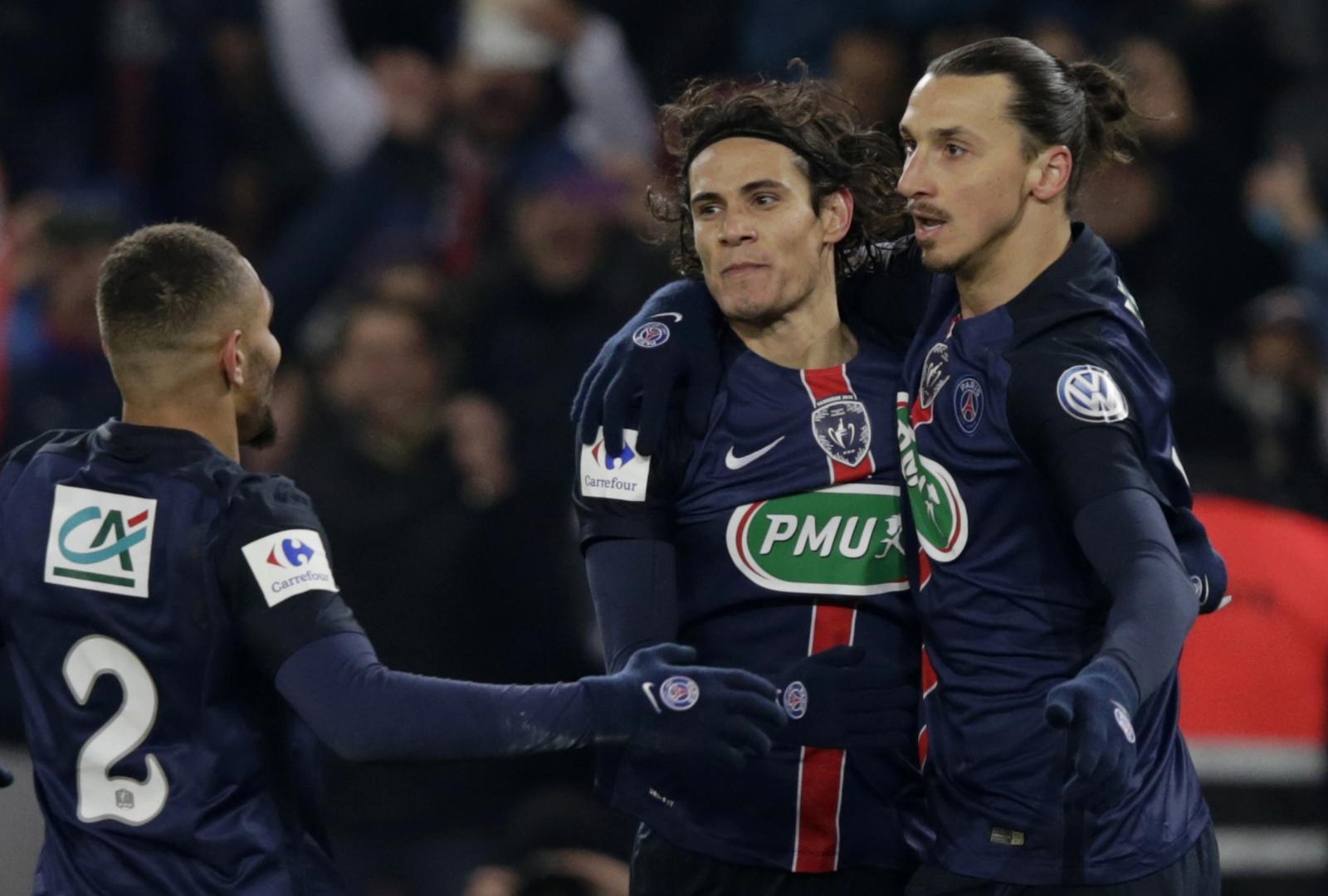 Edinson Cavani and Zlatan Ibrahimovic