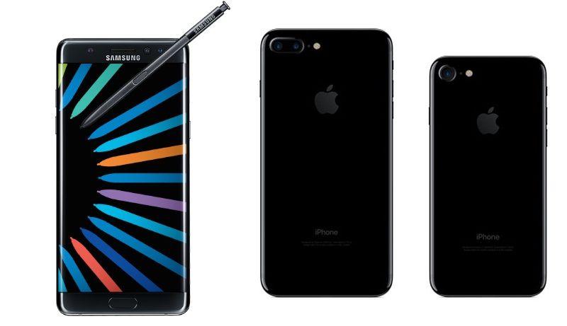 Galaxy Note 7 vs iPhone 7