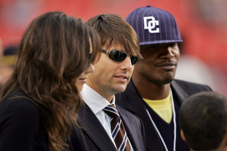 Tom Cruise, Katie Holmes and Jamie Foxx