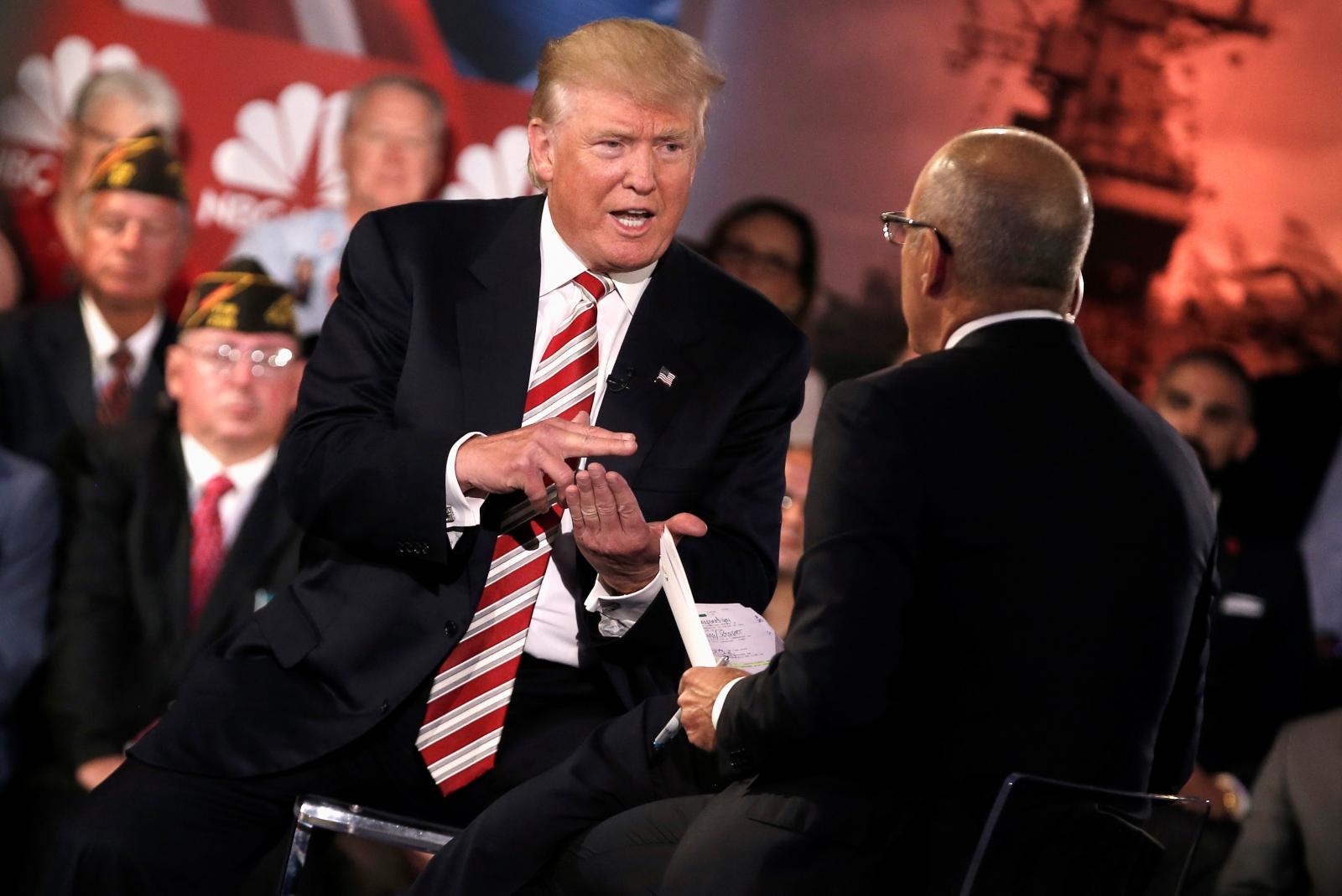 Donald Trump with Matt Lauer
