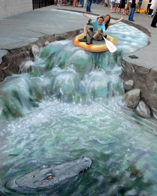 Astounding 3D Images by Beever on UK streets.
