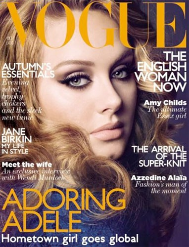 Singer Adele Graces the Cover of UK Vogue