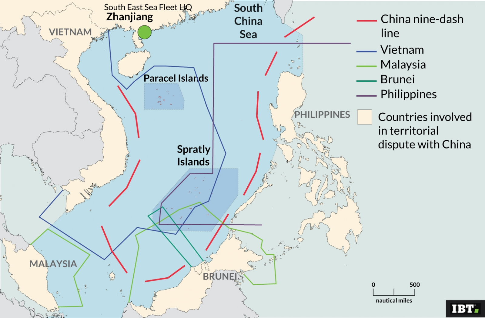 South China Sea: disputed areas