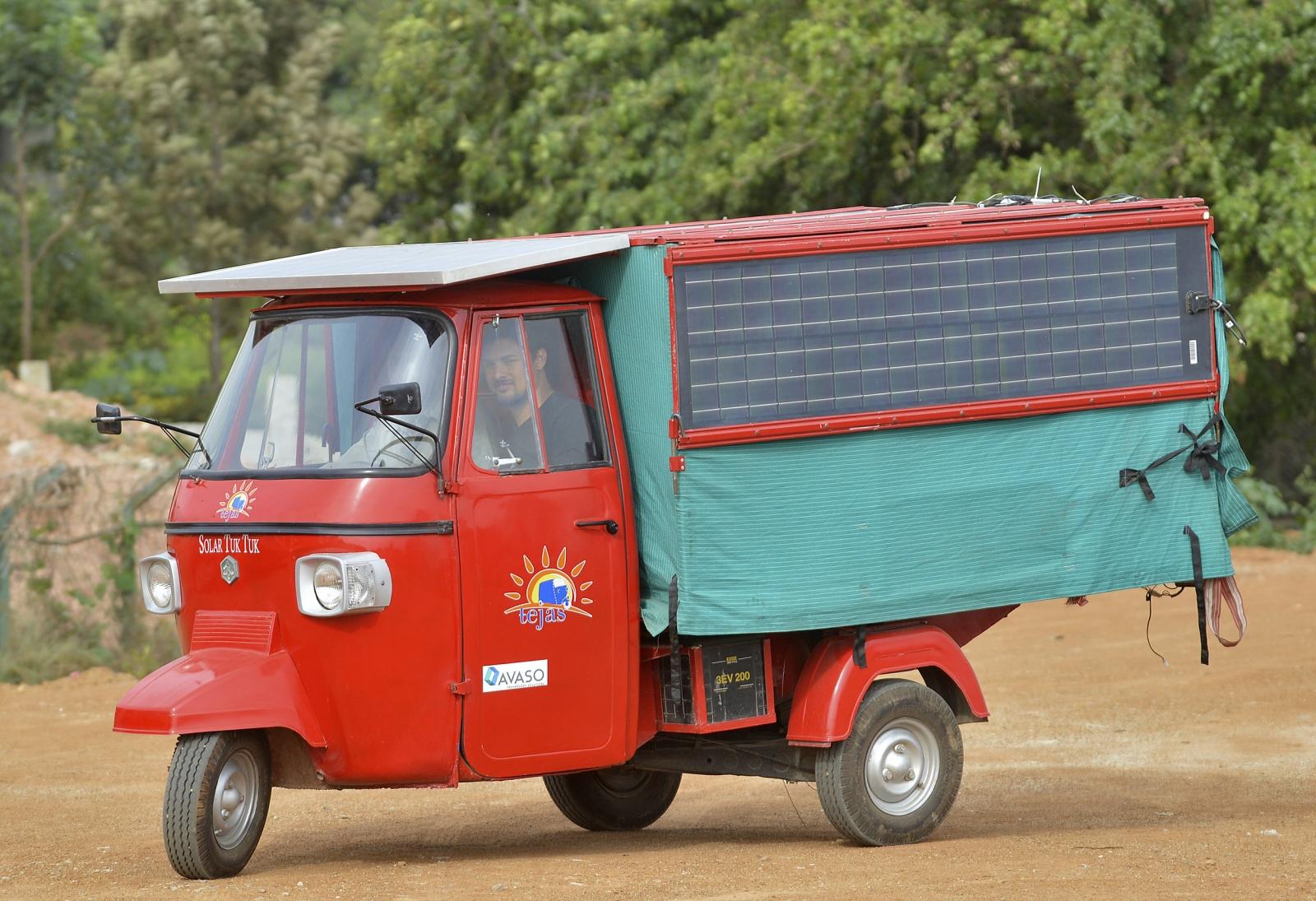 Solar-powered tuk tuk