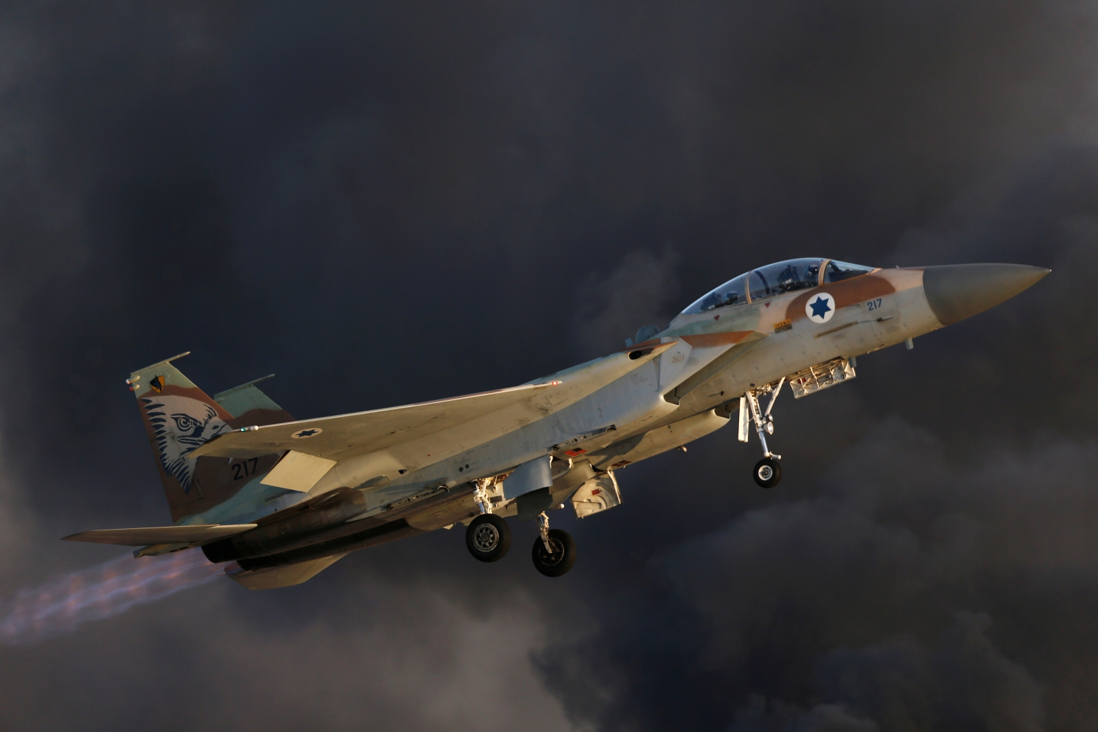 An Israeli Air Force F-15 fighter jet
