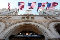 New Donald Trump hotel near the White House met with protests