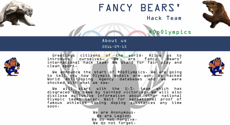 Fancy Bears Hack Team