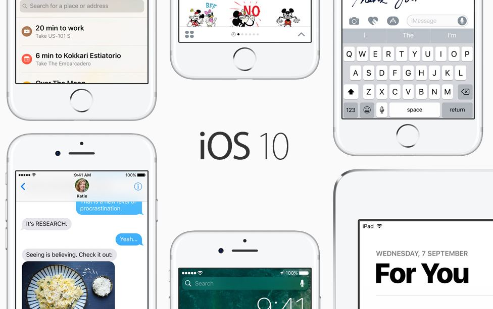 Apple releases iOS 10 update