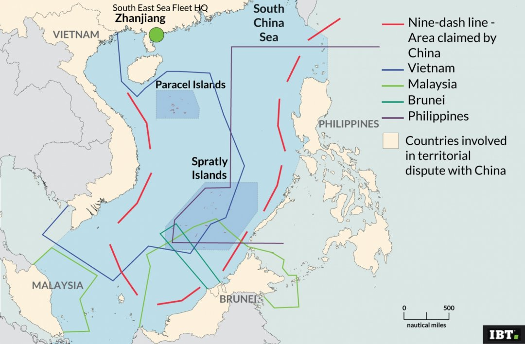 South China Sea disputed territories