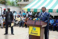 Gabon\'s opposition leader Jean Ping