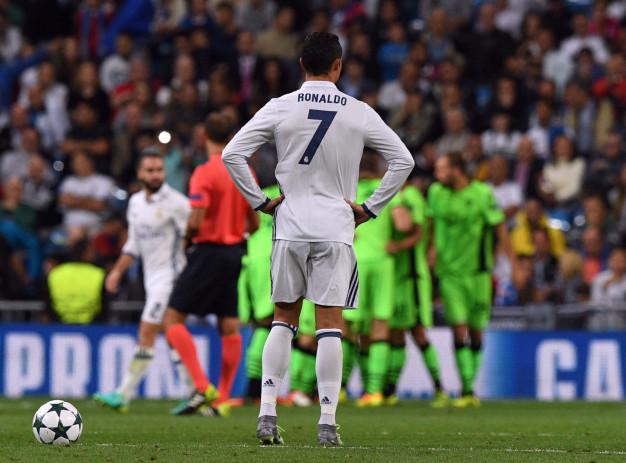 Cristiano Ronaldo cuts a frustrated figure