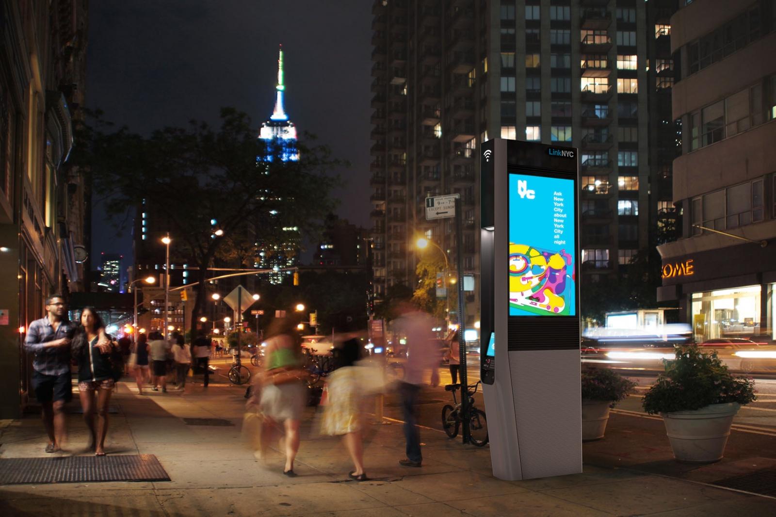 NYC Wi Fi kiosks