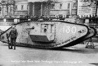Mark I tank at Trafalgar Square