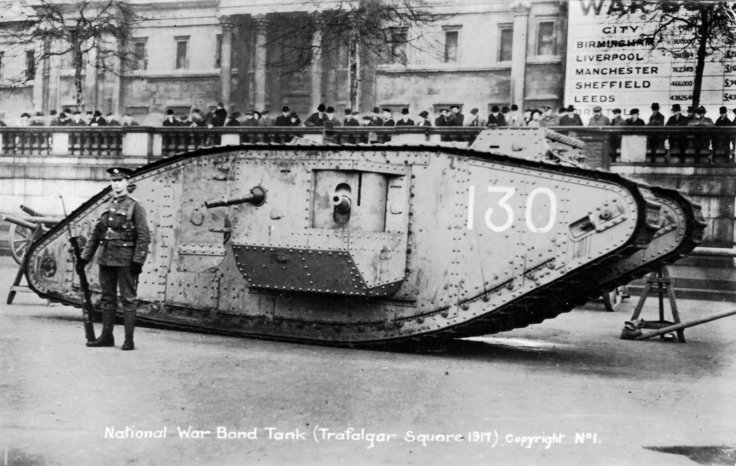 Mark I tank at Trafalgar Square