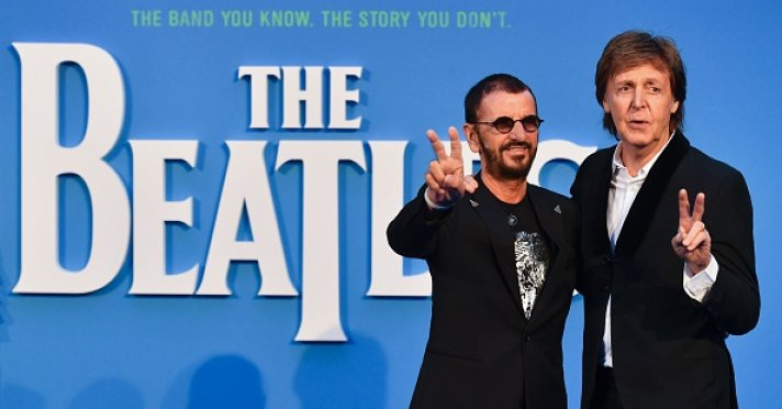 Sir Paul McCartney And Ringo Starr Attend The London Premiere Of Beatles Eight Days A Week Touring Years AFP Getty