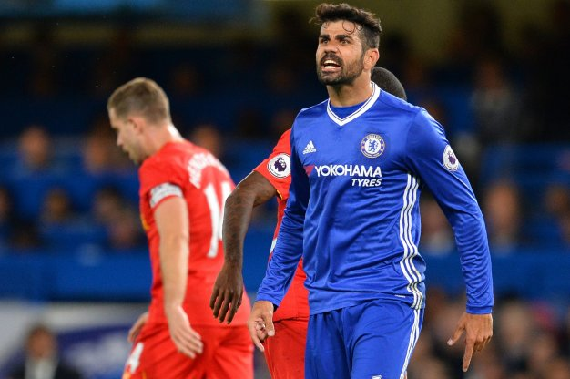 Diego Costa cuts a frustrated figure