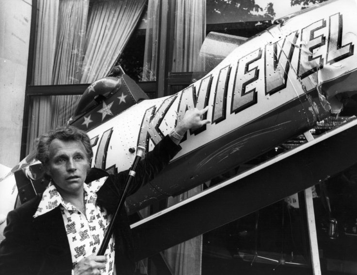 Evel Knievel and his skycycle