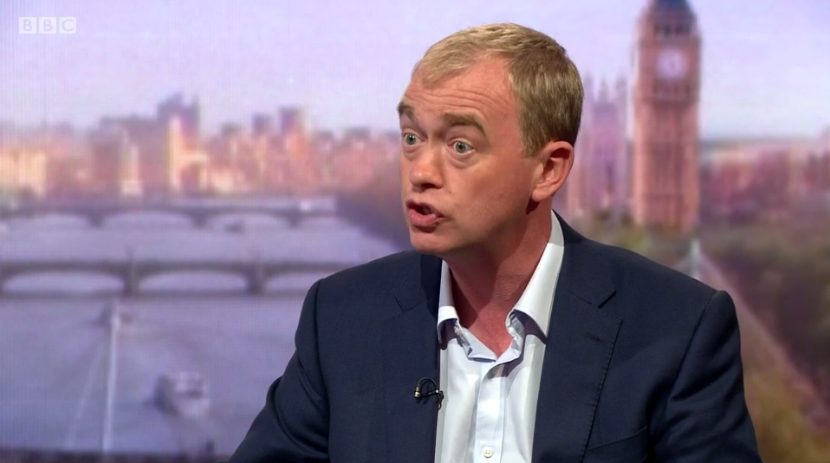 Tim Farron on Andrew Marr show