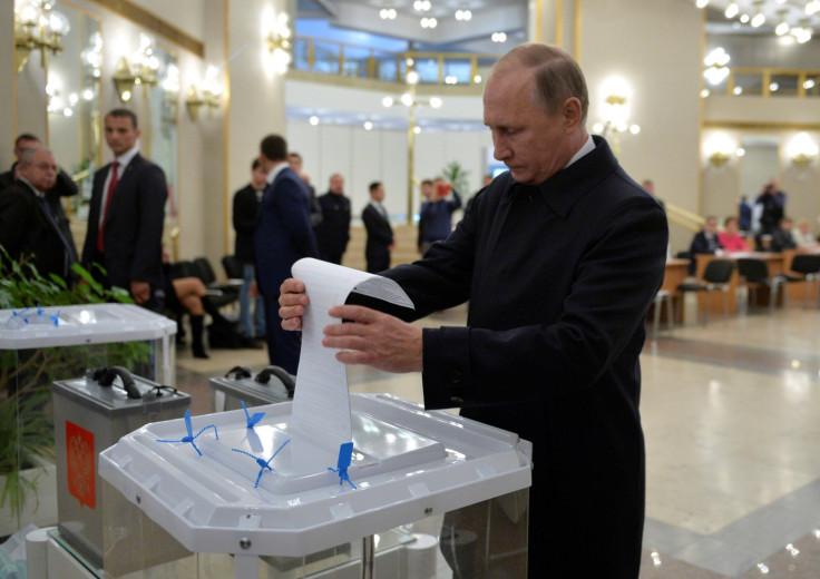 President Putin casts his vote