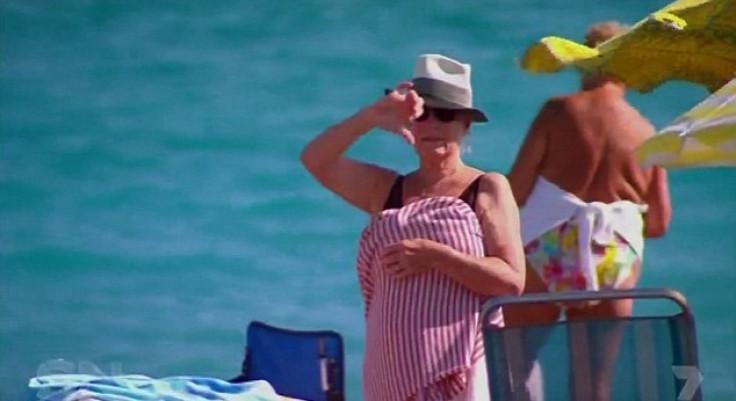 Woman wears burkini on beach in protest